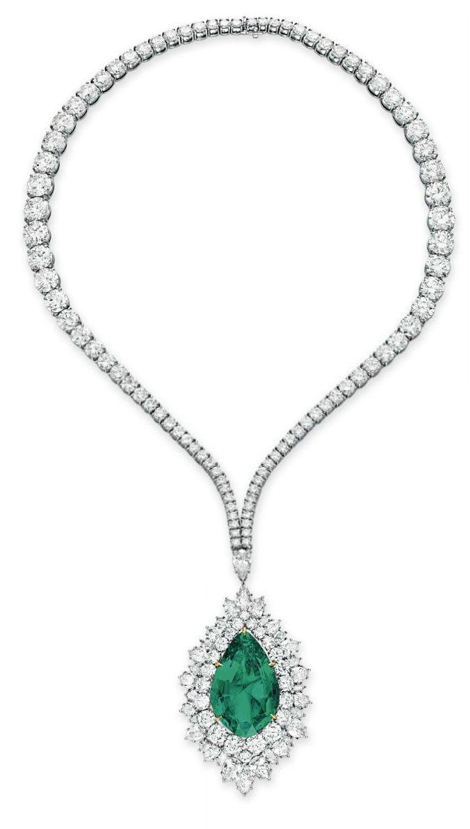 a057c53fa1169 Pin by Neeta Mehendale on jewelry   Emerald necklace, Diamond ...