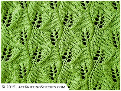 Knitting Stitch Patterns Leaf : #LACE KNITTING No.10 Overlapping Leaves stitch pattern Knitt Pinterest ...