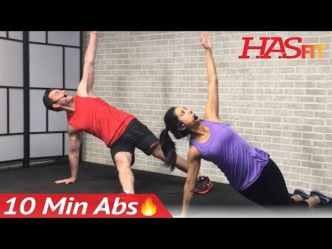 10 min abs workout for men  women  10 minute ab workout