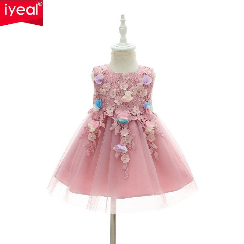 ecce879d9715 IYEAL High Quality Flower Princess Baby Dress For Infant Little Girl ...