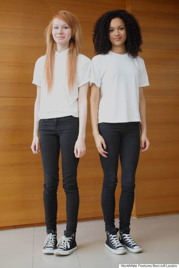 These Two Teens Arent Just Sisters -- Theyre Twins. The black one is really