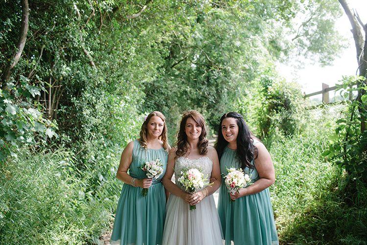 Sage Green Mint Bridesmaid Dresses Outdoor Festival Rustic Rural Barn Wedding http://www.danhoughphoto.com/
