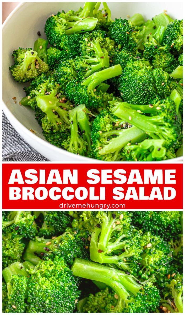 Asian Sesame Broccoli Salad Recipe Broccoli side dish
