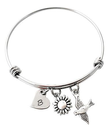 Look what I found on #zulily! Stainless Steel Bird in Flight Bangle #zulilyfinds