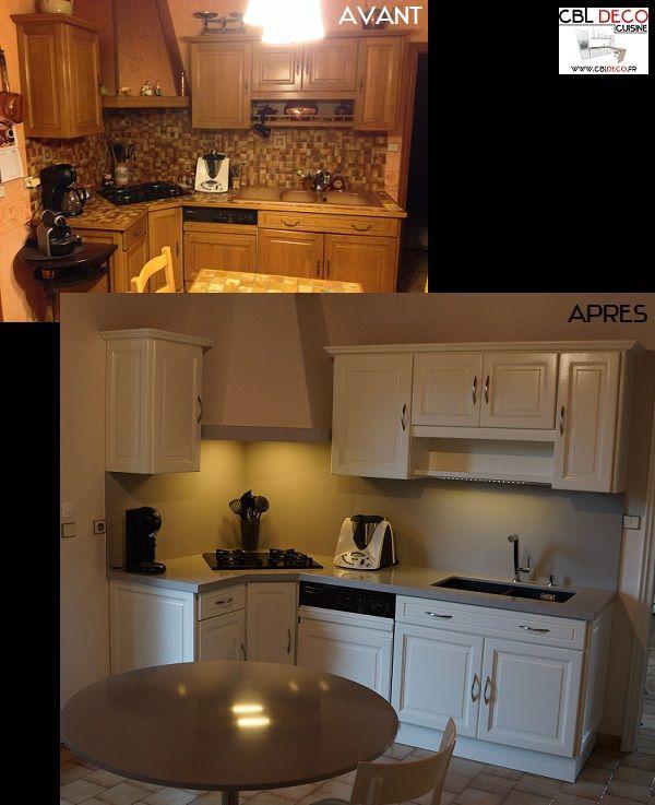 relookage cuisine par cbldeco Rénovation de cuisine par AtelierCBL - Renovation Meuble Cuisine En Chene