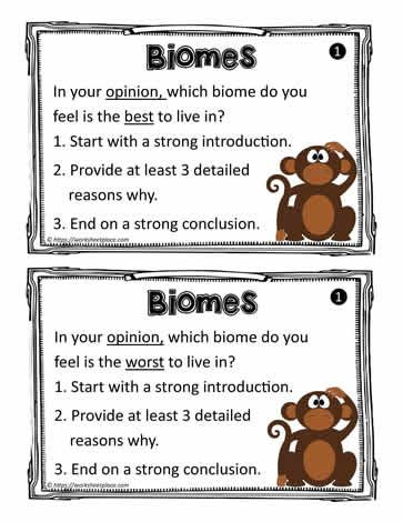 Photo of Biome Task Cards Worksheets
