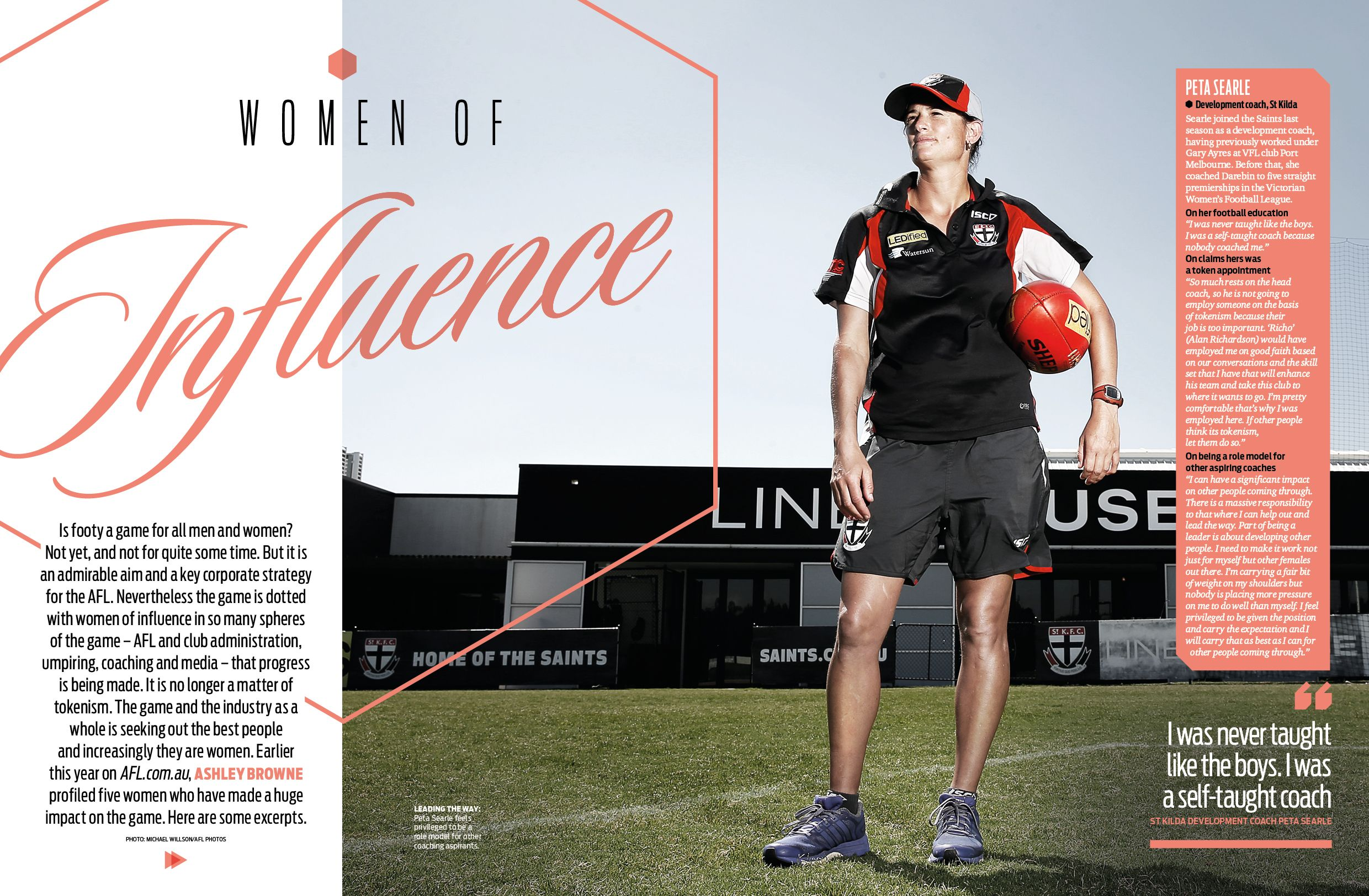 Afl Record Round 6 Women In Football Feature Sports Graphic Design Layout Design Inspiration Magazine Layout Design
