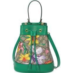 Photo of Kleine Ophidia Ggbucket Bag mit Flora-Print Gucci