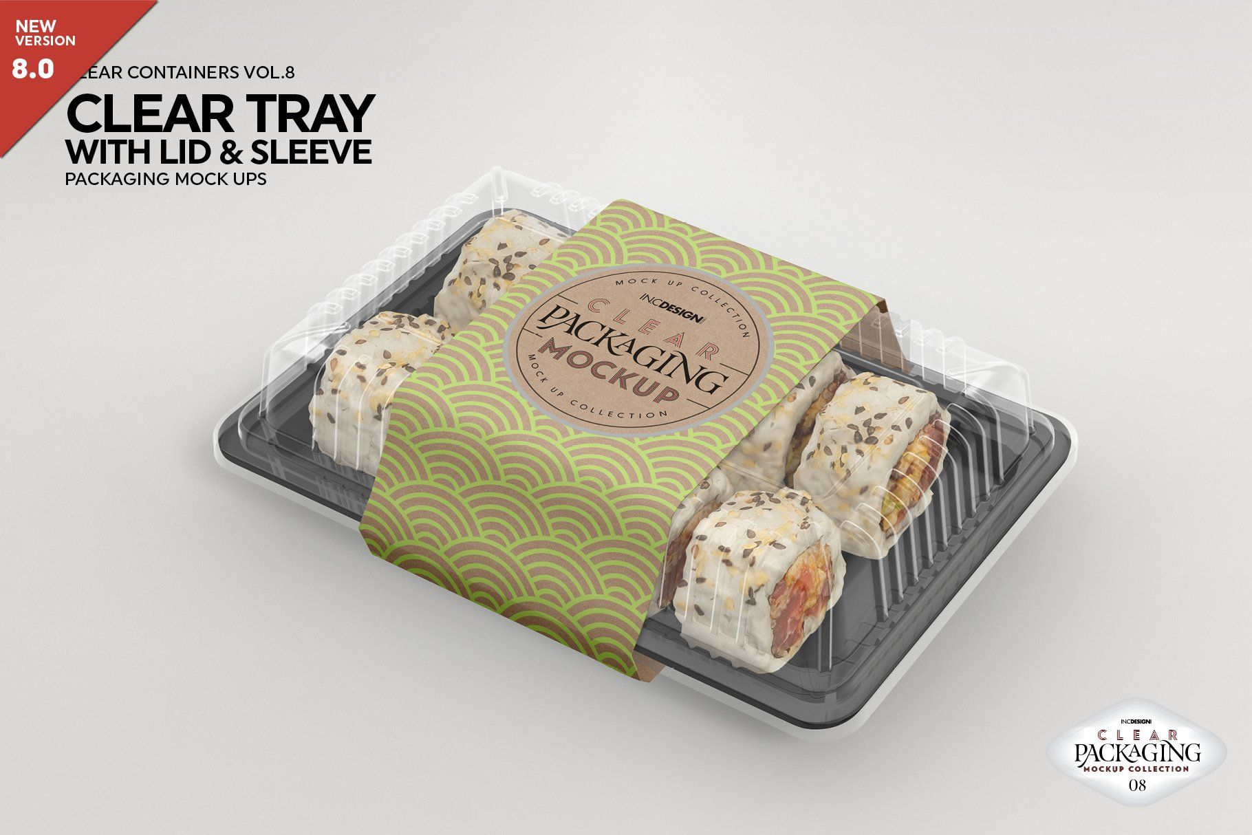 Download Clear Tray With Lid Packaging Mockup Food Mockup Frozen Food Packaging Packaging Mockup