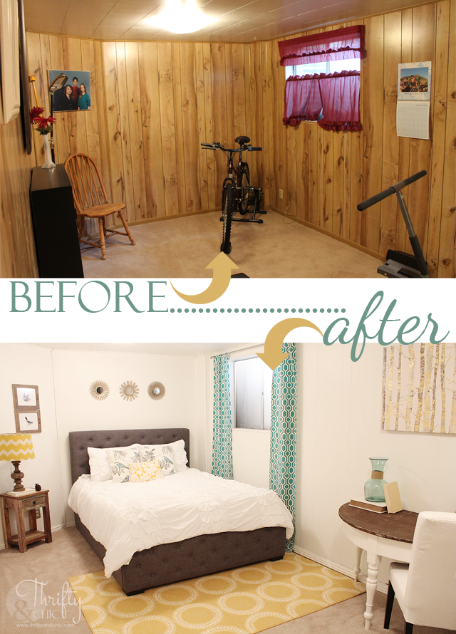 Stunning Room Reveals Makeovers Basement Guest Rooms - Bedroom paneling designs