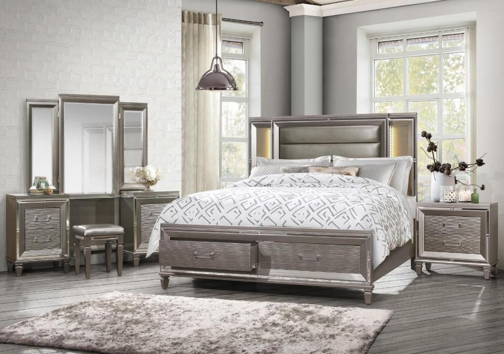 Homelegance Tamsin Collection Model 1616 14 15 Led Beds Bedroom Headboard Storage