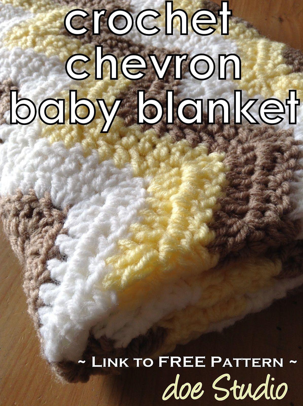 doe Studio: ~free pattern~ Crochet Chevron Baby Blanket | Chales de ...