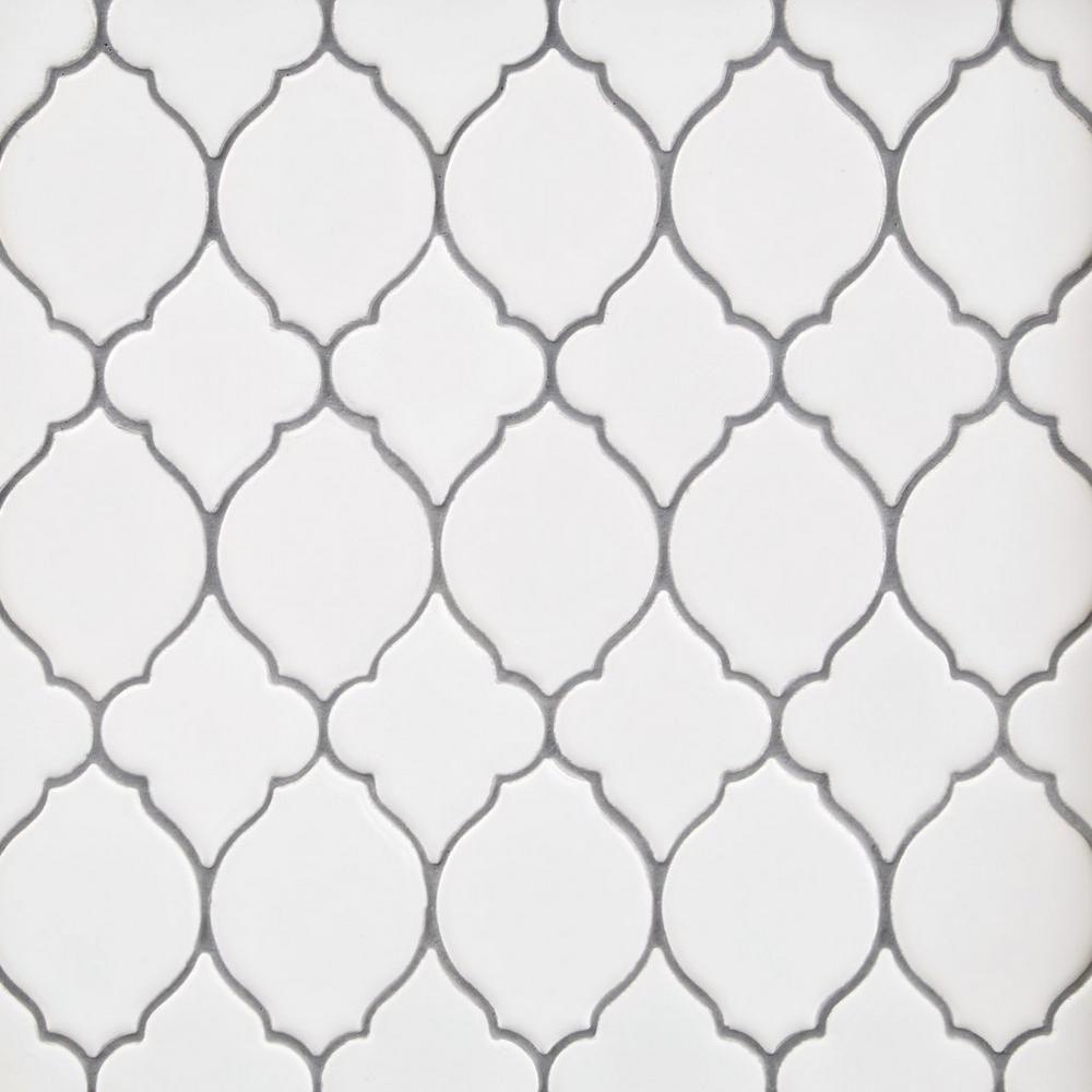 White Lantern Polished Porcelain Mosaic With Images Porcelain
