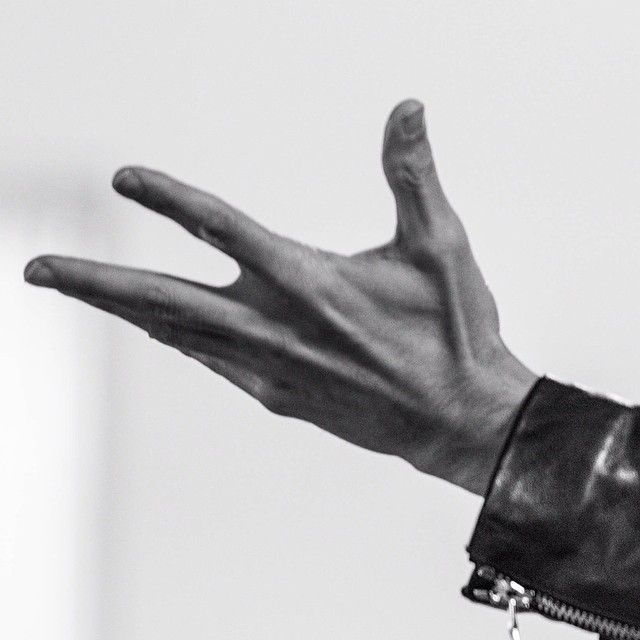 "Jared Leto.- My hand. (via http://instagram.com/p/nTYrVFzBXl/   (""Take my hand, I'll show you the wild side"")"