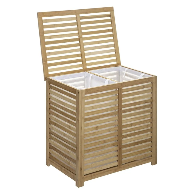 Panier à Linge Double Sicela Bambou In 2019 Home Outdoor