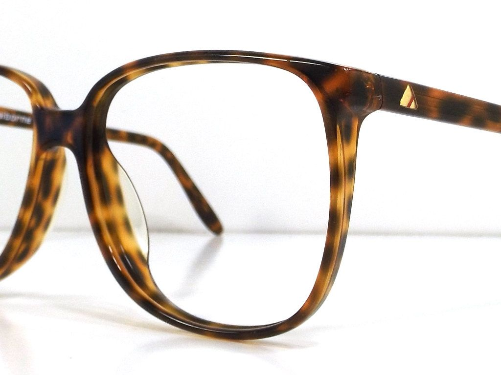1e70bf4310 vintage 80s backstock liz claiborne tortoise shell plastic eyeglasses  oversized round frame women fashion retro modern eye glasses eyewear by ...