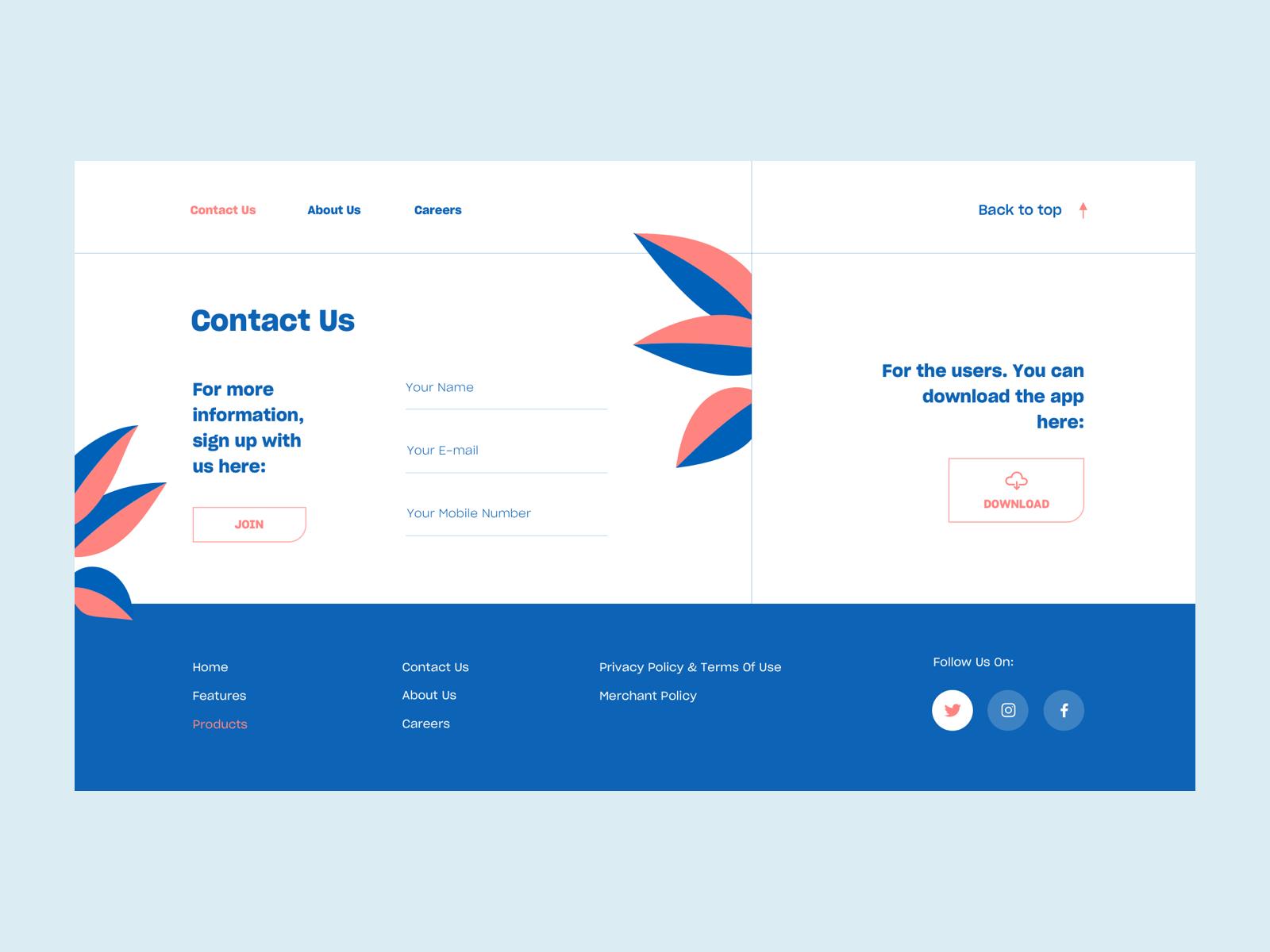 Contact Us Simple Web Design Web Design Contact Us Page Design