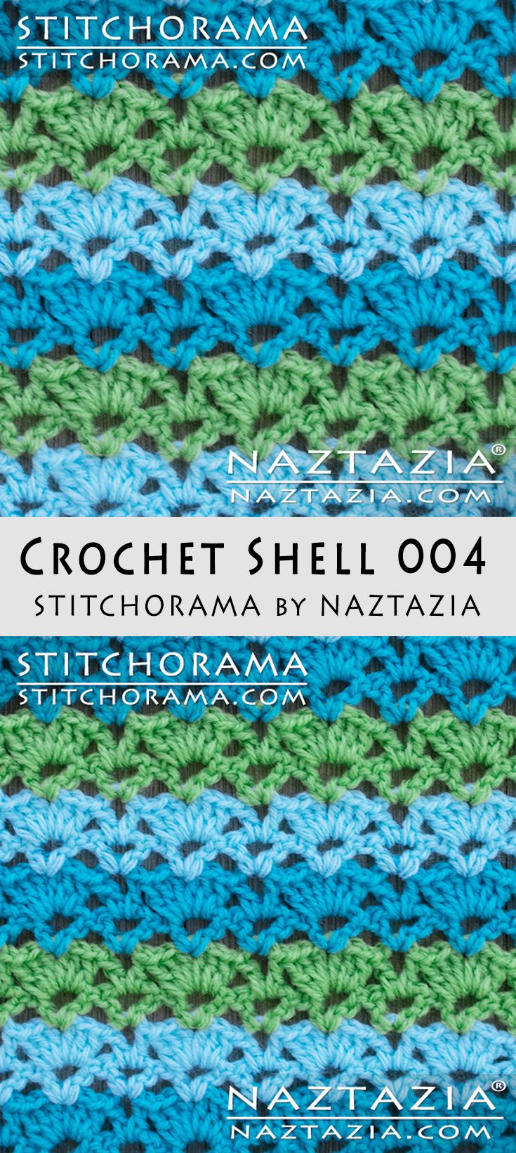 Crochet Shell 004 - Stitchorama by Naztazia | Crochet | Pinterest ...