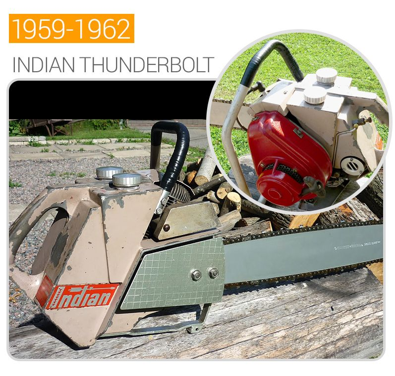 Indian Thunderbolt vintage chainsaw  1599 to 1962    For
