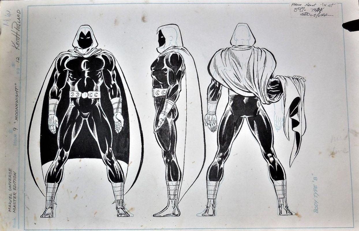 Official Handbook Of The Marvel Universe Master Edition 9 Moon Knight Comic Art Moon Knight Marvel Moon Knight Comic Art