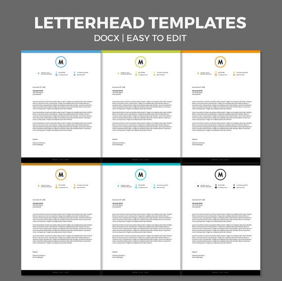 DIY modern corporate business personal easy to by wordtemplates ...