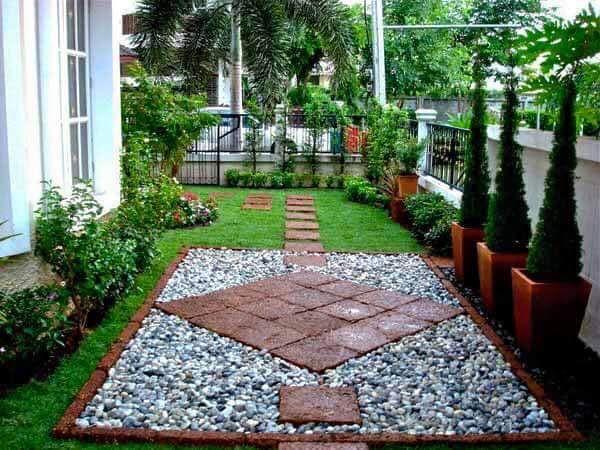 Ideas para jardines pequeños con piedra | Summer garden, Patios and ...