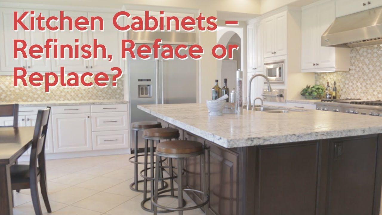 Kitchen Cabinets-- Refinish, Reface or Replace | Refinish ...