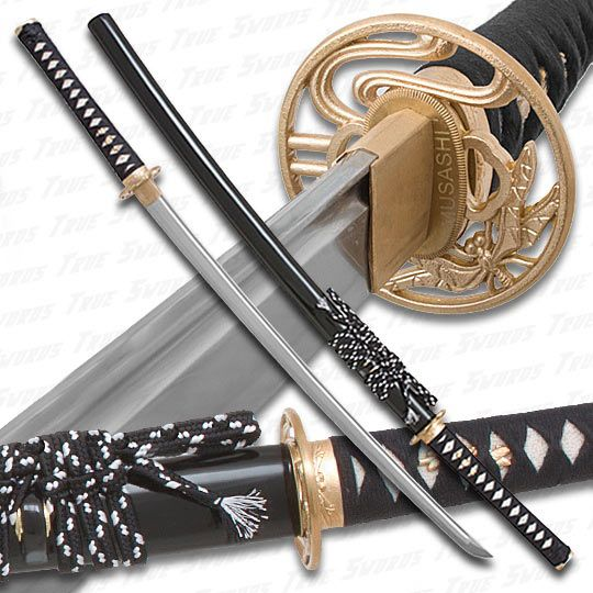 Musashi 1060 Carbon Steel Golden Dragonfly Katana Sword