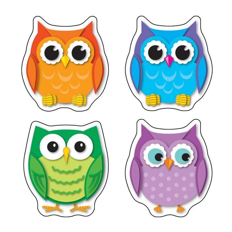 Colorful Owls Stickers Fp Stickers Owl Crafts Owl Owl Classroom