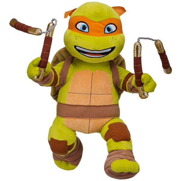 Chuk You Later Teenage Mutant Ninja Turtles Michelangelo Build A Bear Workshop Turtle Plush Build A Bear Build A Bear Birthday