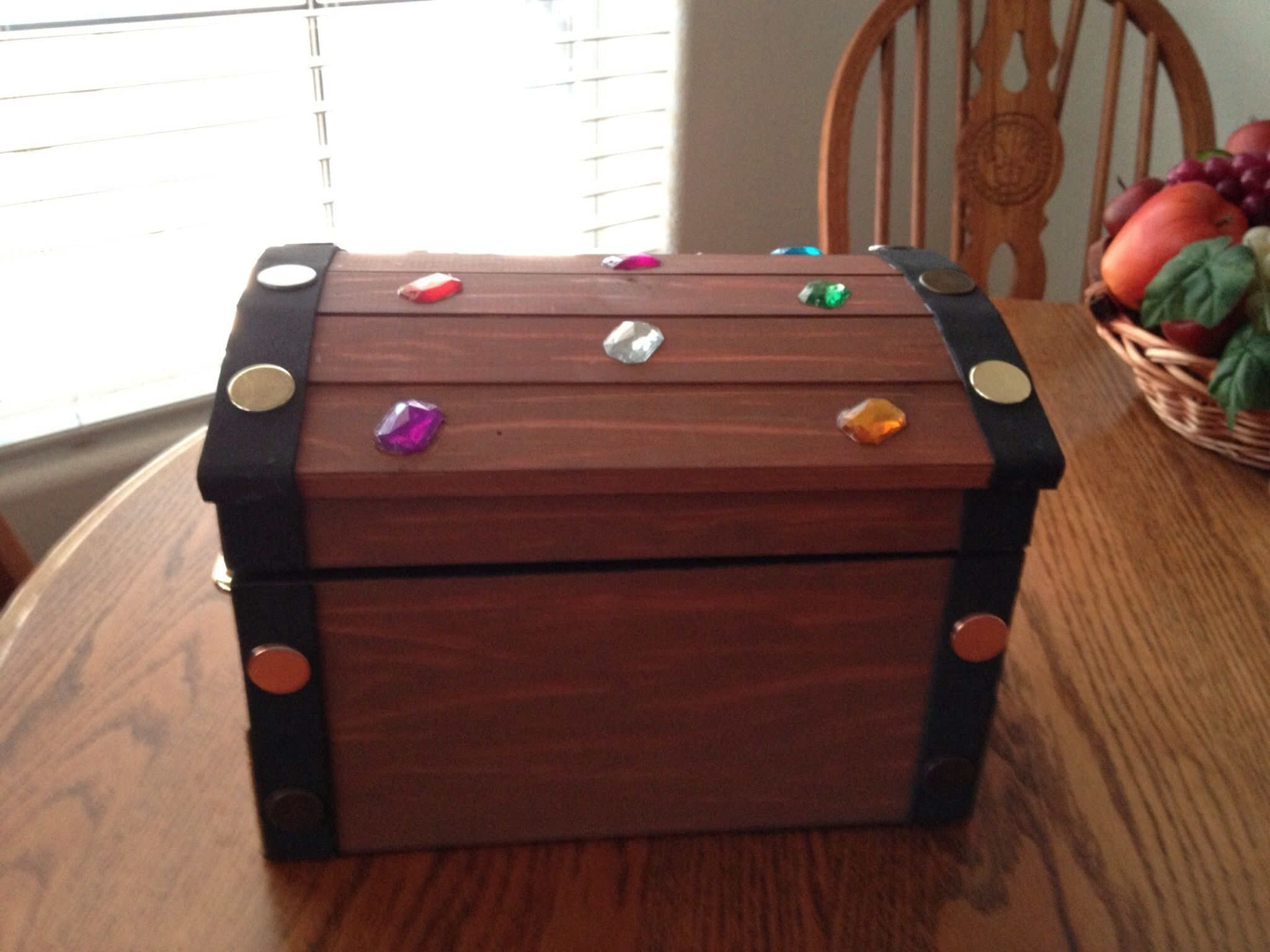 Purchased From Michaels Unfinished Wood Treasure Chest For A Pirate Party Michaels Crafts Store Pirate Party Treasure Chest