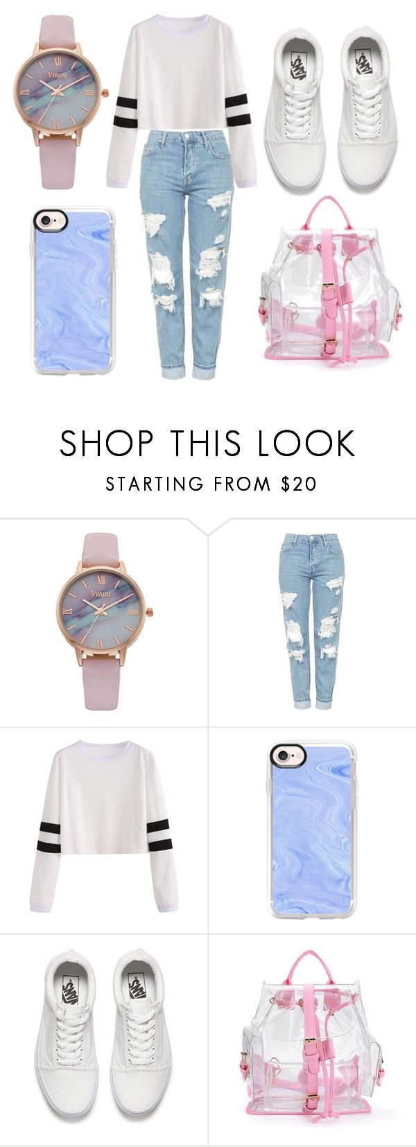"""""""Grunge Style"""" by giuly-music ❤ liked on Polyvore featuring Vivani, Topshop, Casetify and Vans"""
