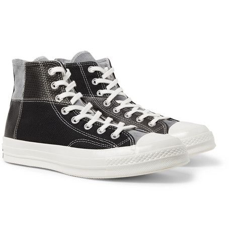 d67c219233e CONVERSE 1970S CHUCK TAYLOR ALL STAR PATCHWORK LEATHER, CORDUROY AND TWILL  HIGH-TOP SNEAKERS. #converse #shoes
