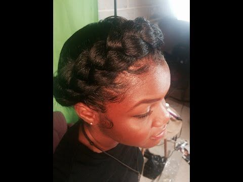 How To Faux Halo Goddess Braid Protective Style Fay Natural