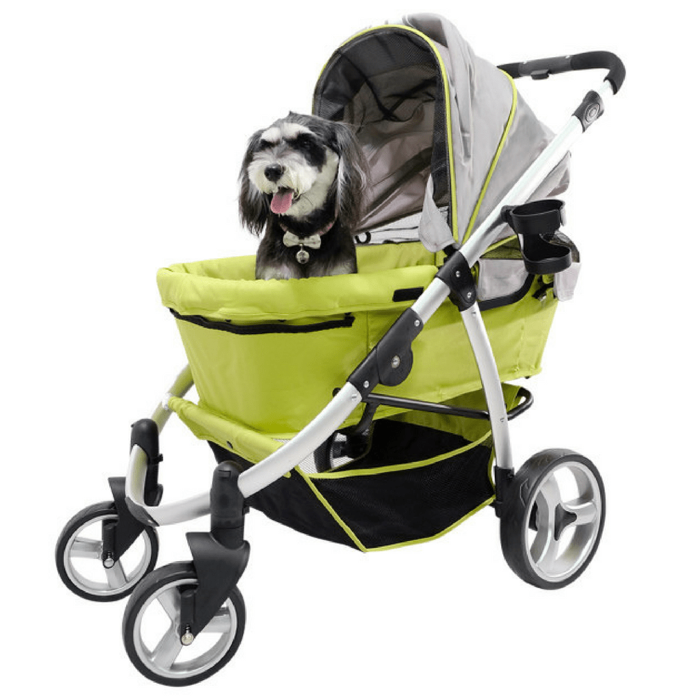 Retro Buggy Pet Stroller by Innopet Grey Lime Pet