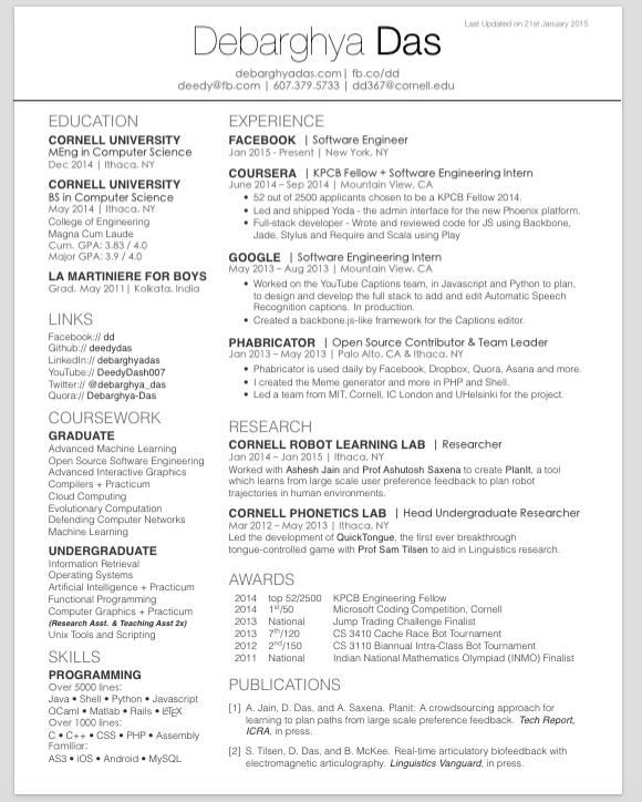 F B Resume Format ResumeFormat