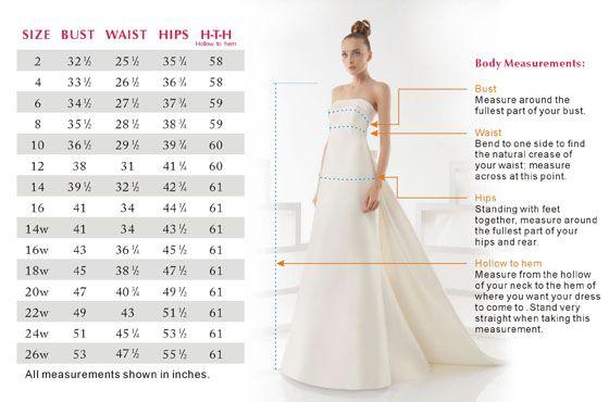 Wedding dresses size chart vera wang also rh pinterest