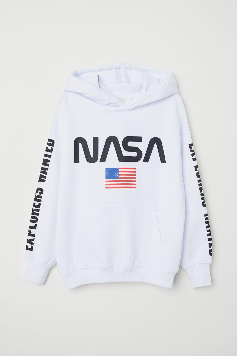 Printed Hooded Sweatshirt White Nasa Kids H M Us Nasa Hoodie Printed Hooded Sweatshirt Sweatshirts [ 1200 x 800 Pixel ]