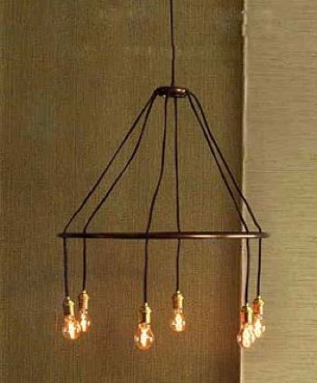 Roost Halo Chandelier 300 Inspired By The Austere Designs Of Turn Century Light Fixtures Has Created This Suspended Lamp