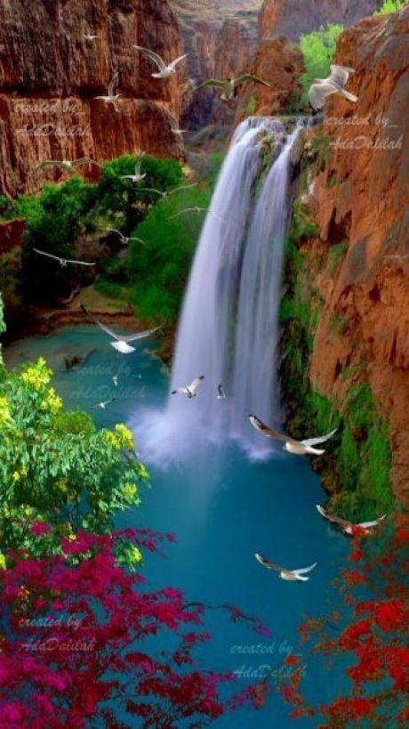 Водопады (с изображениями)   Водопады, Живописные пейзажи ...