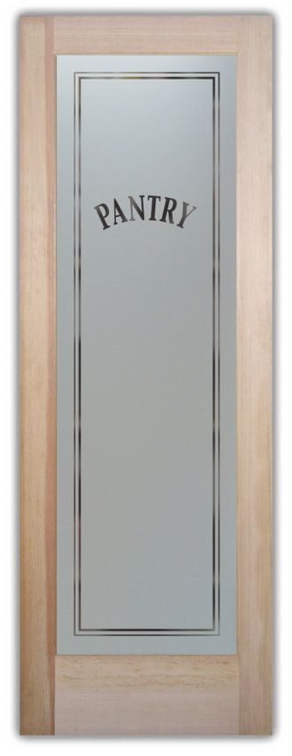 Pvc Door Interior Room Door From Zhejiang Awesome Door: Etched Frosted Glass Pantry Door