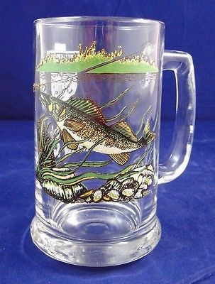 Old #style #glass beer mug / stein collector #series v - walleye fish,  View more on the LINK: http://www.zeppy.io/product/gb/2/181952688153/