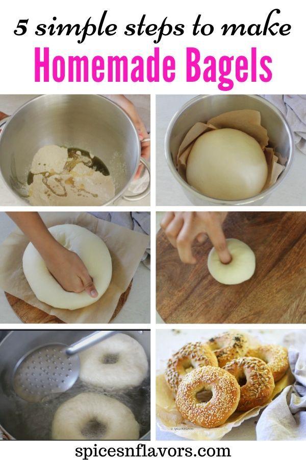 Best Homemade Bagels Recipe In 5 Simple Steps Recipe Homemade Bagels Bagel Recipe Easy Bagel Recipe