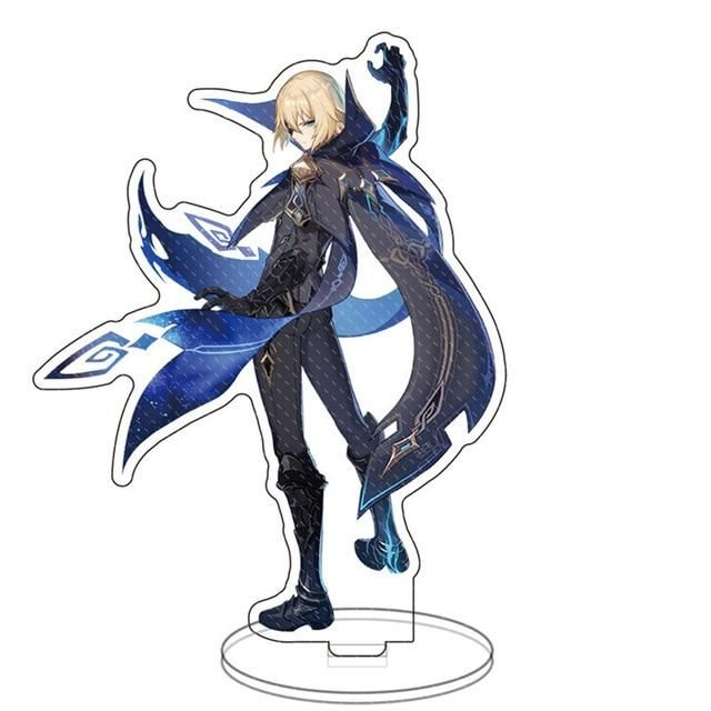 Photo of Hot Game Genshin Impact Zhongli Character Acrylic Figure Stand Model Plate Desk Decor Barbara Cute Standing Sign Great Gifts – 34 / 15 cm