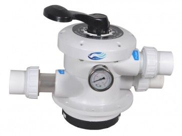 1.5 Inch Valve for top mount fibreglass sand pool filter  Six way swimming pool multiport valves in order to produce diverse functions in a hydraulic Normal pool filtration and vacuuming Backwash: Cleaning pool filter by reversing the flow Rinse: Used after backwash to flush dirt from swimming pool valve Waste: By-passes filter, used for vacuuming to waste or lowering water level Recirculate: By-passes pool filter for circulating water to pool