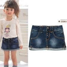 a8fbf0e08a falda en jeans para niñas - Buscar con Google