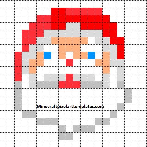 Minecraft Pixel Art Templates: Santa Claus | Grid Art | Pinterest ...