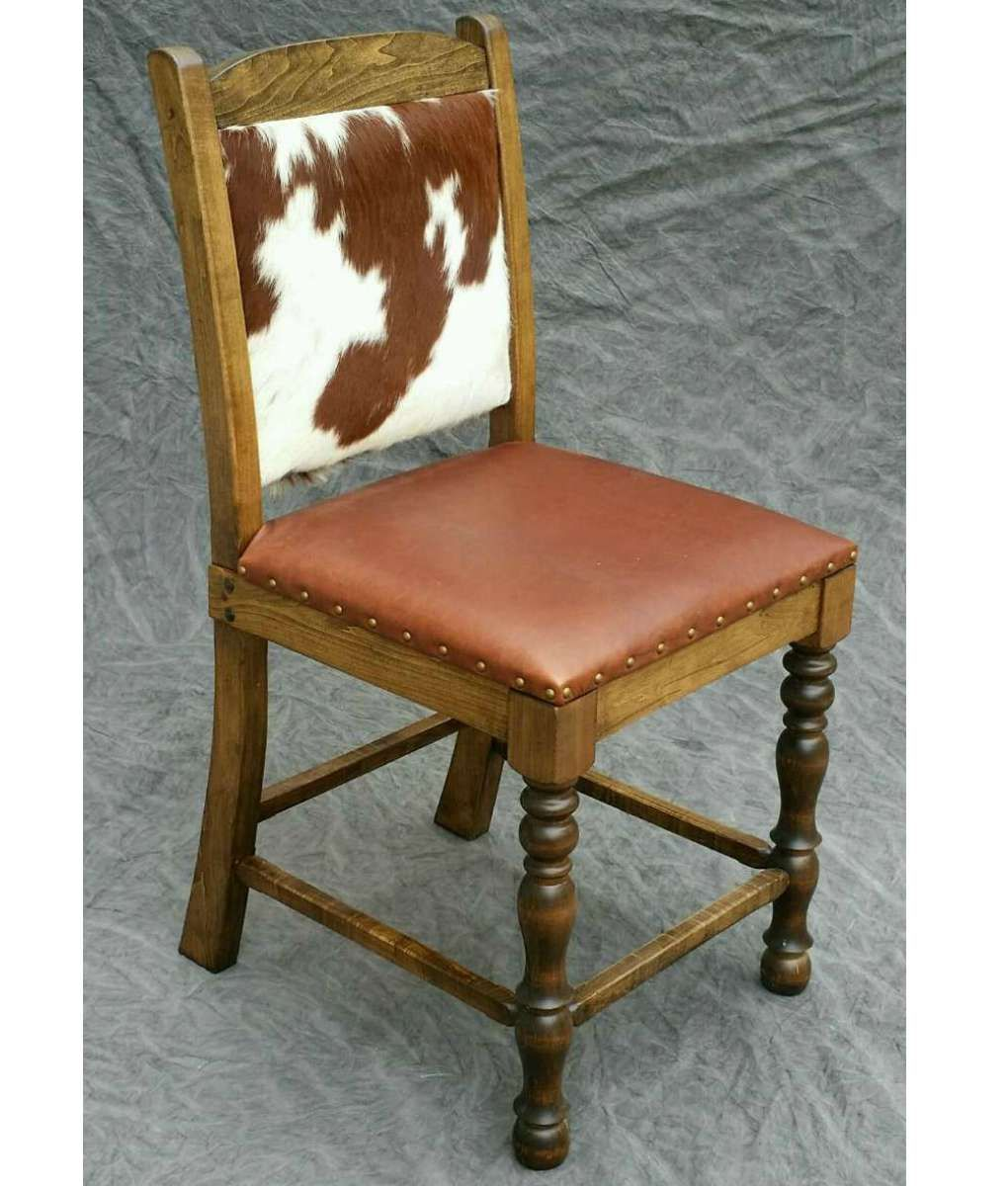 Cowhide Counter Stool  Dining Chair  Bar Stool  Make