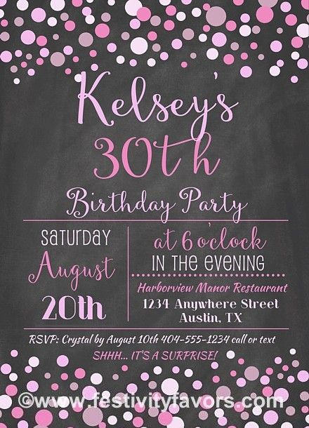 30th Birthday Party Invitations 100 Each Item 948