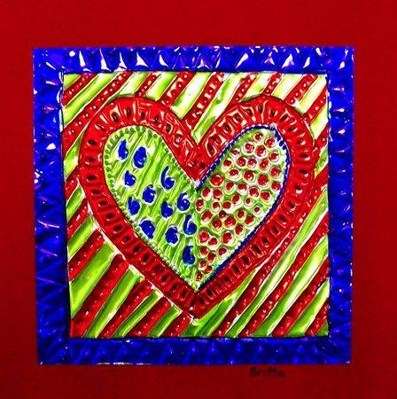 mexican tin hearts